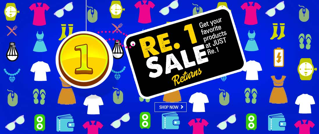 Indiatimes Shopping Re. 1 Sale