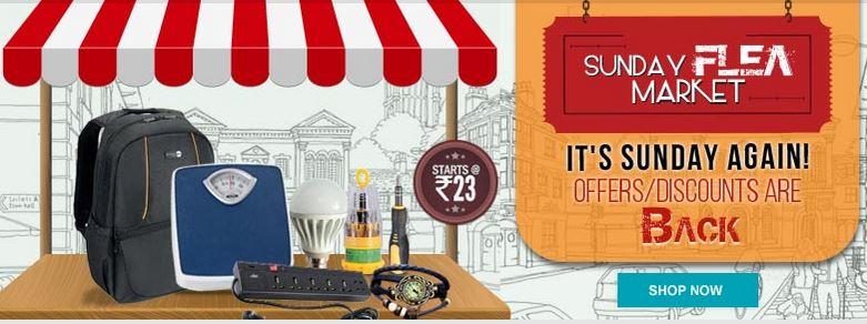 Shopclues Sunday Flea Market Discounts